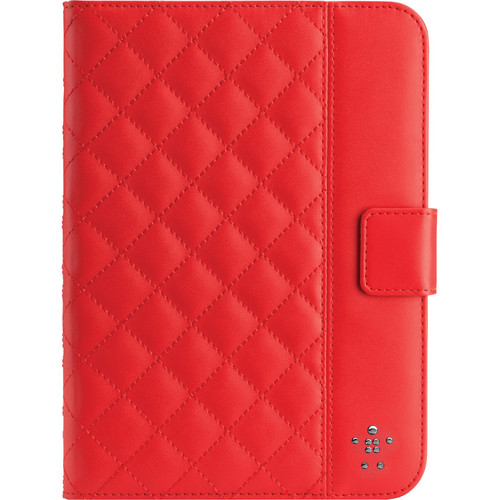 Belkin Quilted Cover with Stand for iPad mini 1/2/3 (Ruby)