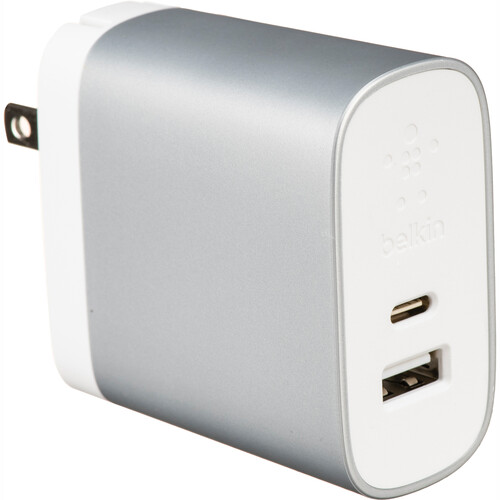 Belkin USB Type-C & Type-A Home Wall Charger with USB Type-C Cable (6')