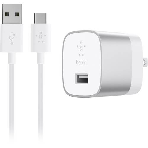 Belkin BOOSTUP USB Type-A to USB Type-C Home Charger (18W, Silver)