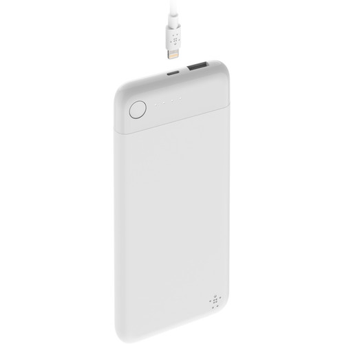 Belkin BOOSTCHARGE Power Bank 5K with Lightning Connector (White)