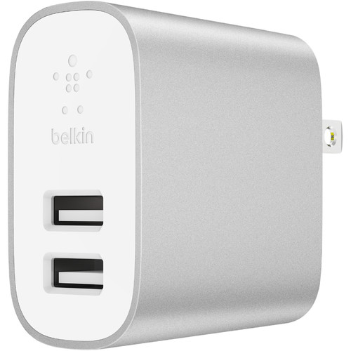 Belkin BOOSTUP CHARGE 24W Dual Port Home Charger (Silver)