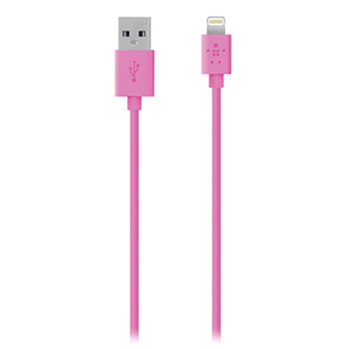 Belkin 4' MIXIT Lightning to USB 2.0 ChargeSync Cable (Pink)