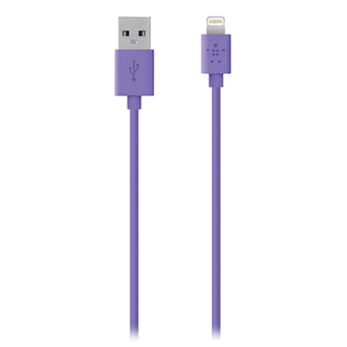 Belkin 4' Lightning to USB ChargeSync Cable (Purple)