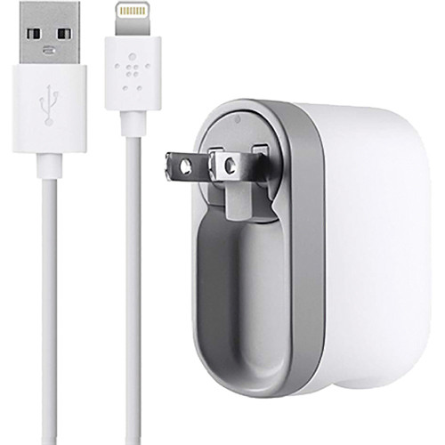 Belkin Swivel Charger + Lightning ChargeSync Cable (4')