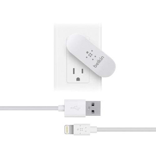 Belkin Dual Swivel Charger with Lightning to USB Cable (4', White)