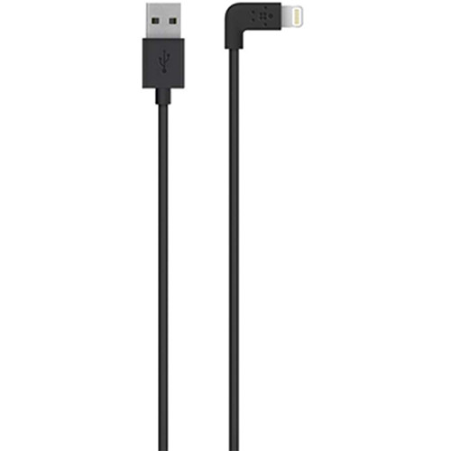 Belkin MIXIT 90-Degree Lightning to USB Cable (4', Black)