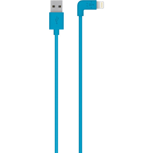 Belkin MIXIT 90-Degree Lightning to USB Cable (4', Blue)