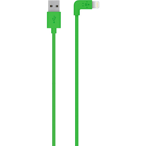Belkin MIXIT 90-Degree Lightning to USB Cable (4', Green)