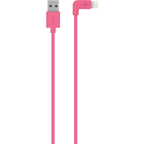 Belkin MIXIT 90-Degree Lightning to USB Cable (4', Pink)