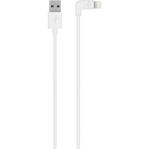 Belkin MIXIT 90-Degree Lightning to USB Cable (4', White)