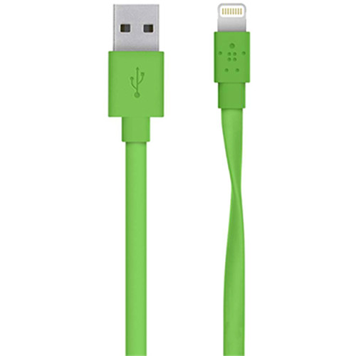 Belkin MIXIT Flat Lightning to USB Cable (4', Green)