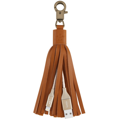 Belkin MIXIT Lightning to USB Cable Leather Tassel (Gold)