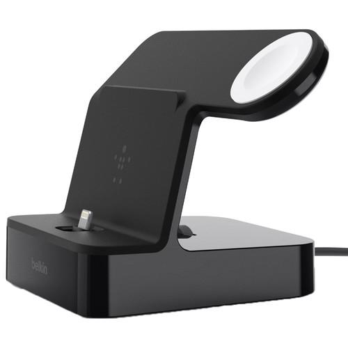 Belkin PowerHouse 2-In-1 Charging Dock for Apple Watch & iPhone (Black)