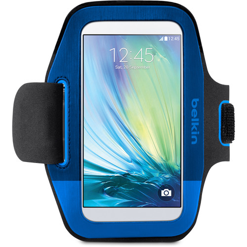 Belkin Sport-Fit Armband for Galaxy S6/S6 Edge (Blue/Black)