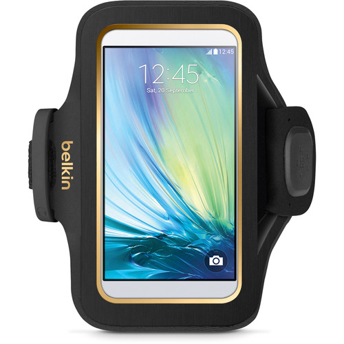 Belkin Sport-Fit Plus Armband for Galaxy S6/S6 Edge (Black/Gold)
