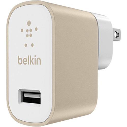 Belkin MIXITUP 2.4A Car and Home Adapter for Phones and Tablets (No Cable, Gold)