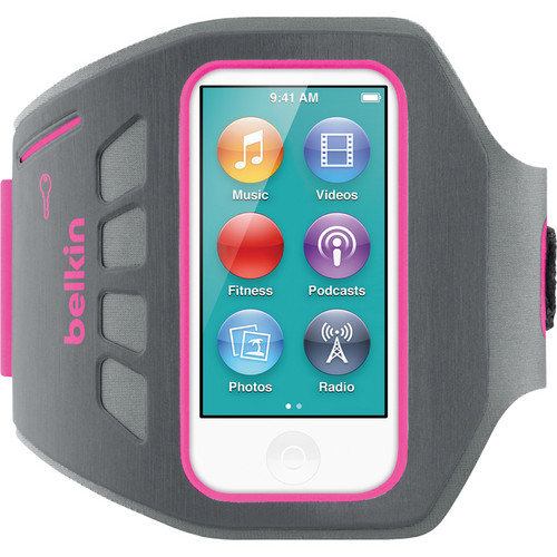 Belkin Ease-Fit Plus Armband for iPod nano 7th Generation (Day Glow Pink)