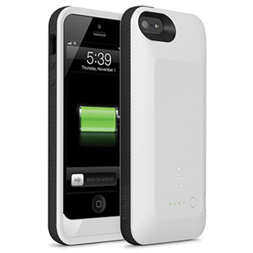 Belkin Grip Power Battery Case for iPhone 5 (Whiteout / Blacktop)