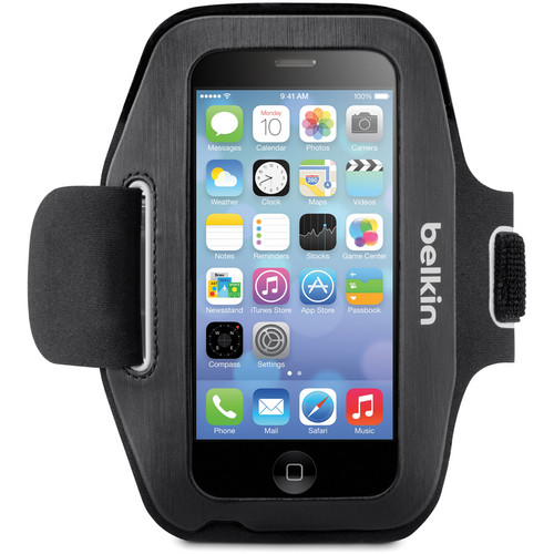 Belkin Sport-Fit Armband for iPhone 5/5s/5c/SE, 5th Generation iPod Touch (Blacktop/Overcast)