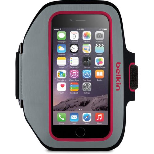 Belkin Sport-Fit Plus Armband for iPhone 6/6s (Sidewalk/Fuchsia)
