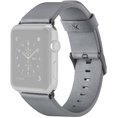 Belkin Classic Leather Band for Apple Watch (38mm, Gray)
