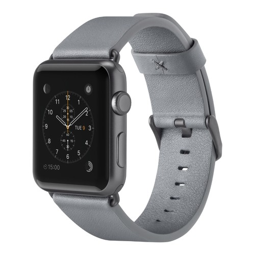 Belkin Classic Leather Band for Apple Watch (42mm, Gray)