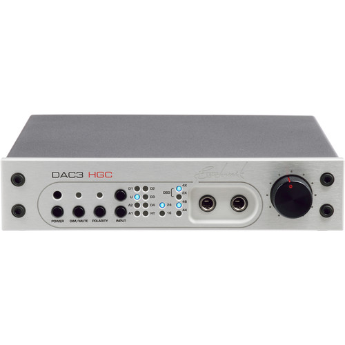 Benchmark DAC3-HGC Reference DAC and Stereo Preamp with HPA2 Headphone Amplifier (Silver)