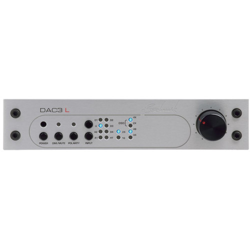 Benchmark DAC3-DX Reference DAC and Stereo Preamplifier with HPA2 Headphone Amp (Silver)
