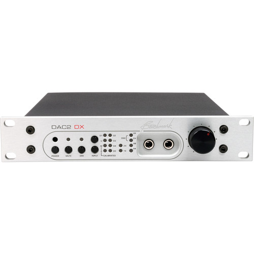 Benchmark DAC2 DX Digital to Audio Converter with Remote Control (Silver Rackmount)
