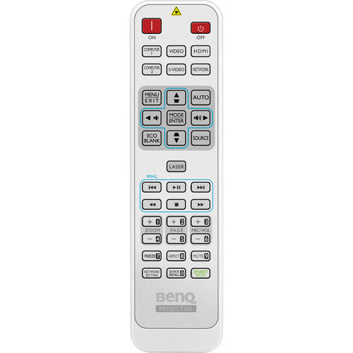 BenQ 5J.JAD06.001-Remote Control for the MW824ST and MX823ST Projectors