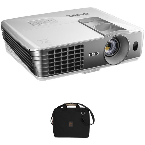 BenQ W1070 Full HD 1080p 3D DLP Home Entertainment Projector and Soft Carrying Case Kit