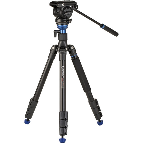 Benro A2883F Travel Angel Aero-Video Tripod Kit with Leveling Column and S4PRO Head