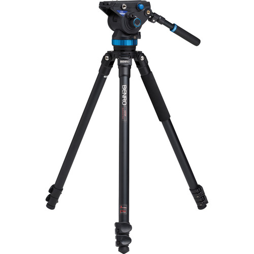 Benro S8 Pro Video Head and A373F Series 3 AL Tripod with Deluxe Carry Case