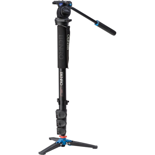 Benro A38FDS2 Series 3 Aluminum Monopod with 3-Leg Locking Base and S2 Video Head