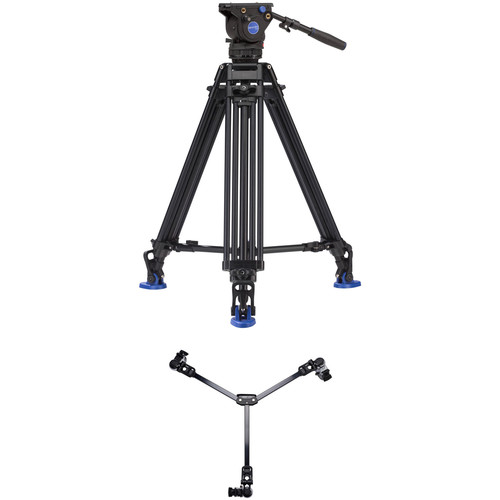 Benro BV4 Pro Dual-Stage Video Tripod Kit with DL-08 Tripod Dolly