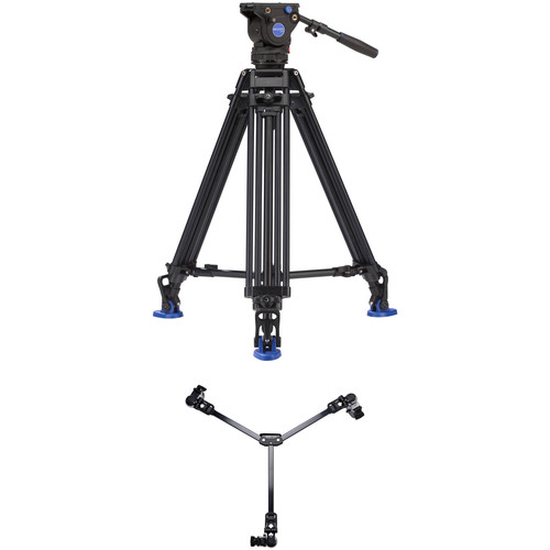 Benro BV6 Pro 2-Stage Video Tripod Kit with DL-08 Tripod Dolly
