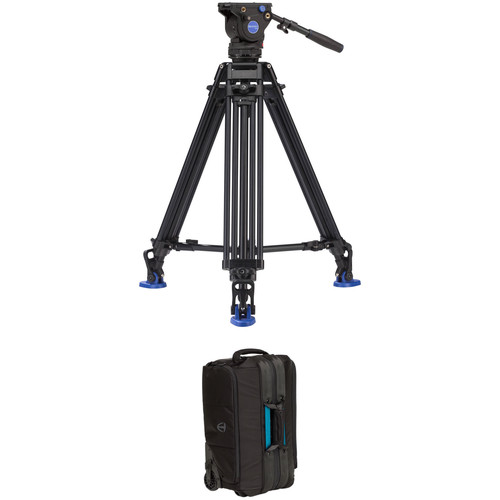 Benro BV6 Pro Video Tripod Kit with 2-Stage Legs & Cineluxe Roller 21 Case