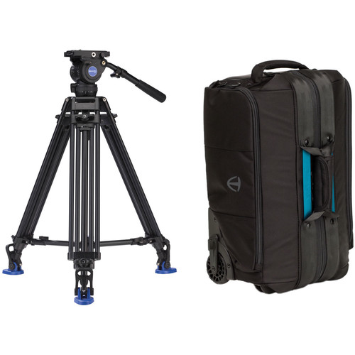 Benro BV8 Pro Video Twin-Leg Video Tripod Kit with Cineluxe Roller 21 Case