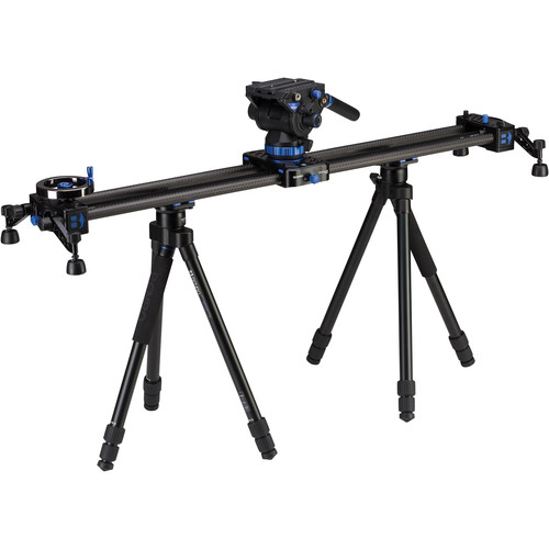 """Benro MoveOver12 35.4"""" Dual Carbon Rail Slider Kit with Video Head & Tripods"""