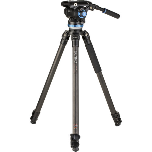 Benro C373F Carbon Fiber Single-Tube Tripod with S8Pro Fluid Video Head