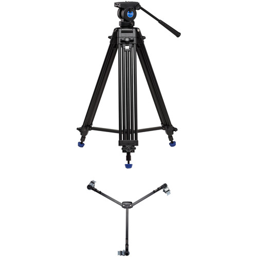 Benro KH25N Dual-Stage Video Tripod Kit with DL06 Tripod Dolly