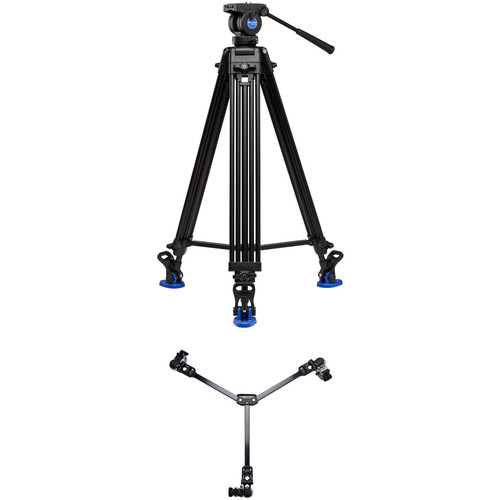 Benro KH26NL Dual-Stage Video Tripod Kit with DL06 Tripod Dolly