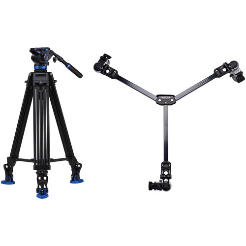 Benro S7 Dual-Stage Video Tripod Kit with DL-08 Tripod Dolly