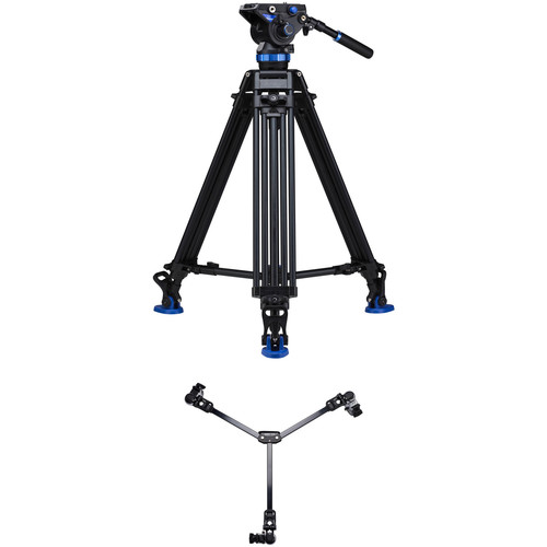 Benro S8 Dual-Stage Video Tripod Kit with DL-08 Tripod Dolly