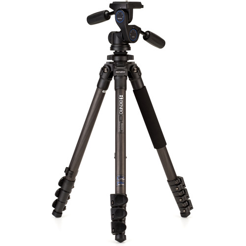 Benro TAD28CHD2 Series 2 Adventure Carbon Fiber Tripod with HD2 3-Way Pan/Tilt Head