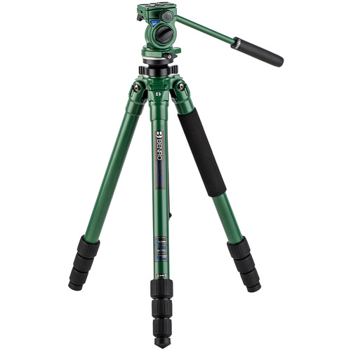 Benro Wild Series 2 Tripod with BWH4 2-Way Pan and Tilt Head (Aluminum, Green)