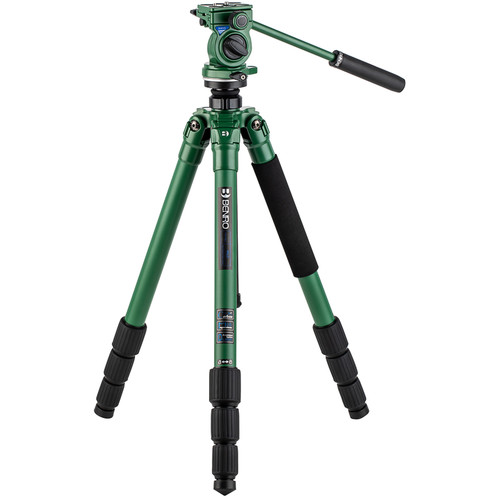 Benro Wild Series 2 Tripod with BWH4 2-Way Pan and Tilt Head (Carbon Fiber, Green)