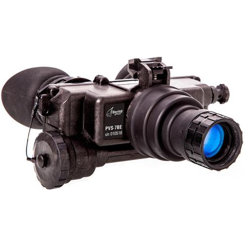 Bering Optics PVS-7BE 1x22 2nd Gen White Phosphor Night Vision Bi-Ocular & Headgear Kit