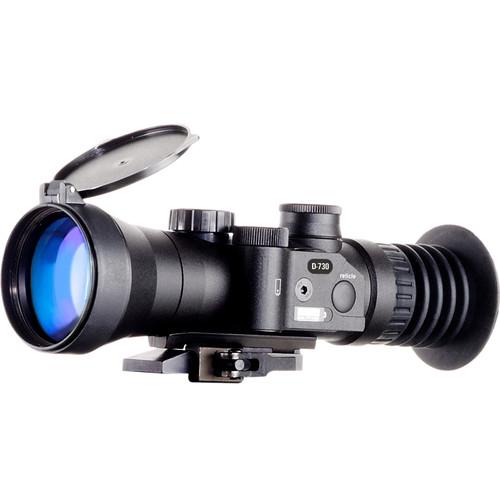 Bering Optics 3.7x50 D-730W 2nd Gen White Phosphor High-Performance Night Vision Sight (Red Mil-Dot Reticle, Matte Black)