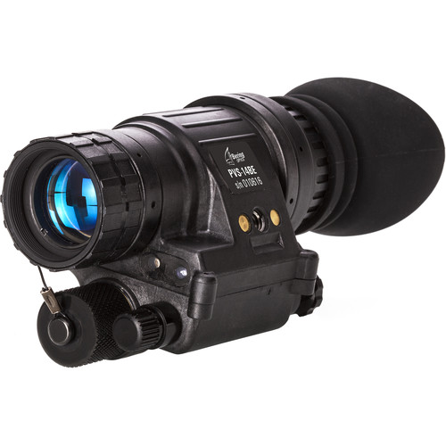Bering Optics PVS-14BE Elite 1x High-Quality 3rd Gen NV Monocular & Headgear Kit (White Phosphor,Matte Black)
